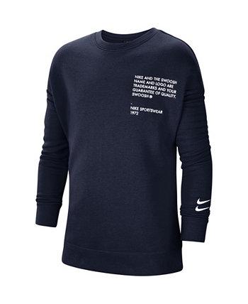 Спортивная одежда для больших мальчиков с логотипом Swoosh Crew Nike