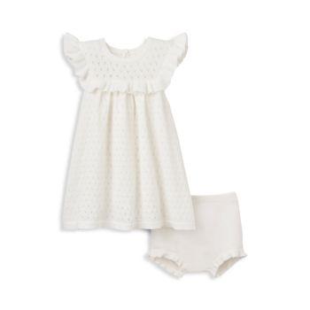 Платье из двух частей Baby's Perfect Pointelle & amp; Комплект шароваров Elegant Baby