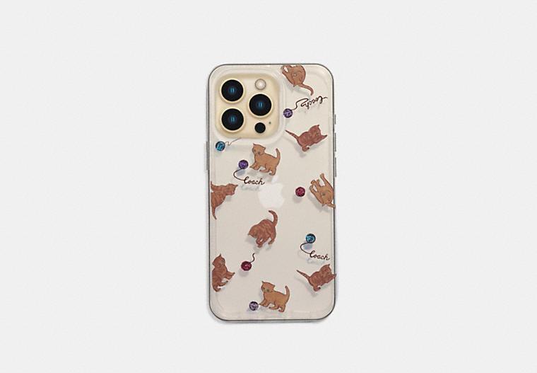 Iphone 13 Pro Case With Cat Dance Print COACH