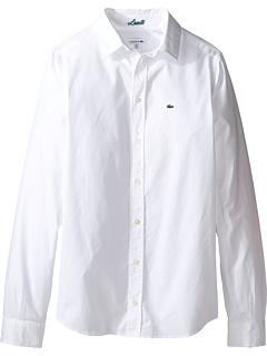 Классическая рубашка с длинным рукавом (маленькие дети / большие дети) Lacoste Kids