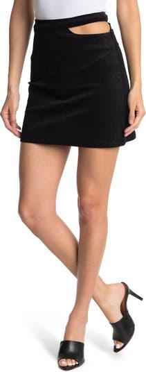 Cutout Corduroy Mini Skirt Elodie