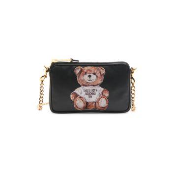 Раскрашенная сумка через плечо в виде медведя Moschino