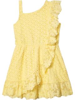 Хлопковое платье с оборками на одно плечо и оборками (Big Kids) BCBG Girls
