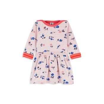 Baby Girl's & Little Girl's Floral-Print Cotton Dress Petit Bateau