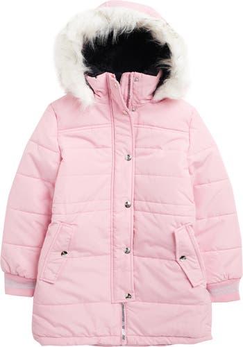 Куртка Expendition с отделкой из искусственного меха и капюшоном Kensie Girl