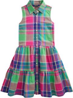 Cotton Madras Shirtdress (Big Kids) Ralph Lauren