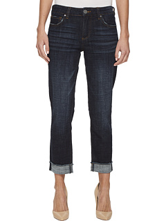 Укороченные прямые джинсы Frey с закатанными ногами Amy KUT from the Kloth