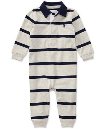 Ralph Lauren Baby Boys Полосатый регби Хлопковый комбинезон Ralph Lauren