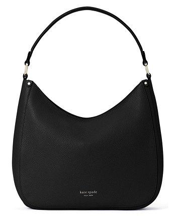 Большая кожаная сумка-хобо Roulette Kate Spade New York