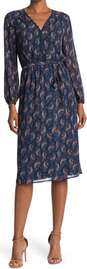 V-Neck Long Sleeve Dress Daniel Rainn
