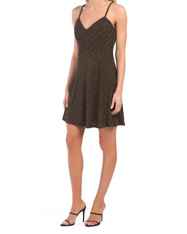 Платье для вечеринки с металлическим шевроном и ремешками Dress the Population