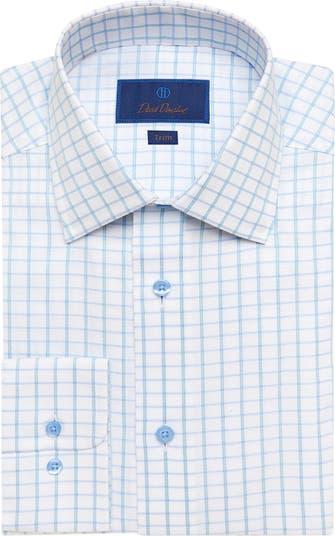 Классическая рубашка в клетку с отделкой David Donahue