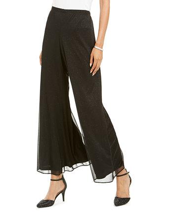 Блестящие штаны-палаццо MSK
