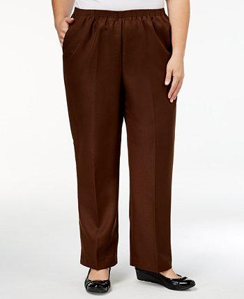 Классические прямые брюки больших размеров без застежки Alfred Dunner