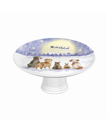 Тарелка с ножками - Магия Рождества Wrendale Designs