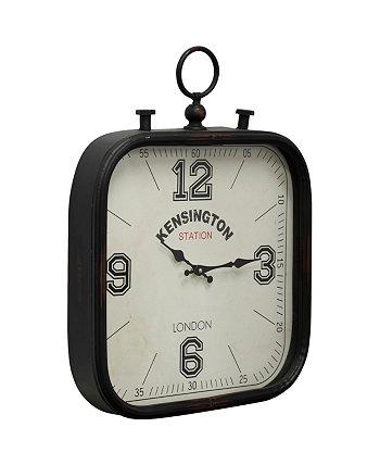 Настенные часы из металла и стекла StyleCraft