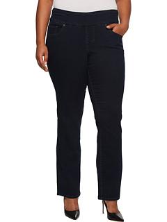 Джинсовые прямые джинсы Peri больших размеров без застежки Jag Jeans