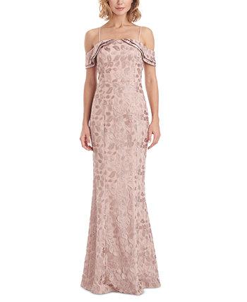 Вечернее платье с открытыми плечами JS Collections