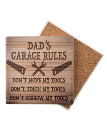 Dad's Garage Sign Collection Coaster THIRSTYSTONE