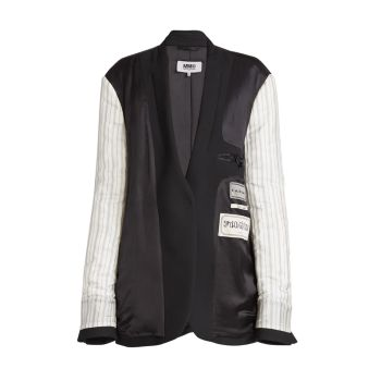 Mixed-Media Label Jacket MM6 Maison Margiela