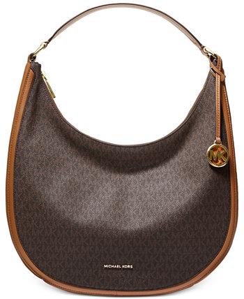 Фирменная большая сумка-хобо Lydia Michael Kors