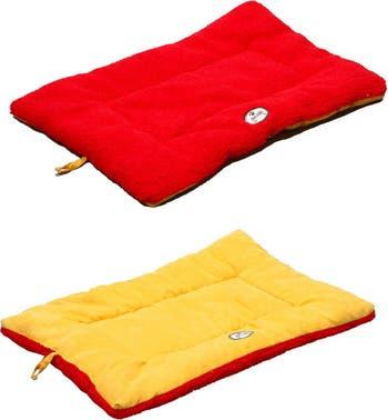 Большая оранжево-красная двусторонняя экологичная кровать Eco-Paw для домашних животных Pet Life