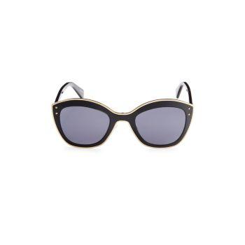 """Солнцезащитные очки """"кошачий глаз"""" 51 мм Moschino"""