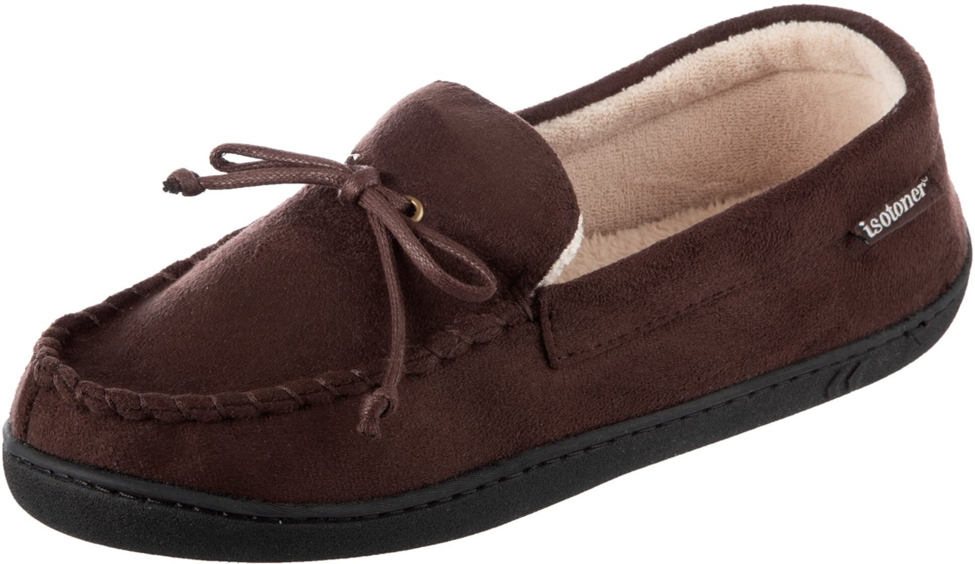 Whipstitch Gel Infused Memory Foam Moccasin ISOTONER