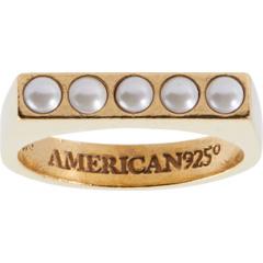 Кольцо с жемчугом Alex and Ani