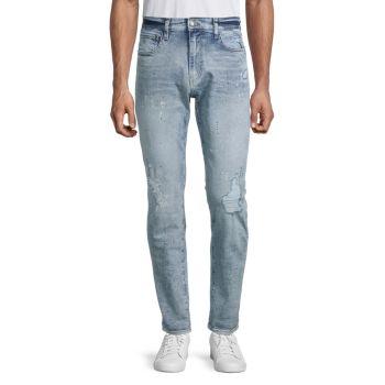 Укороченные зауженные джинсы James-X Buffalo David Bitton