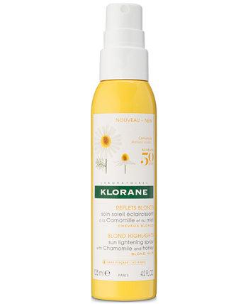 Солнечный осветляющий спрей с ромашкой и медом, 4,2 унции. Klorane