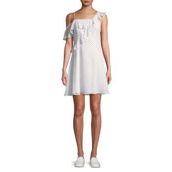 Платье с открытыми плечами и оборками в горошек Cali Dream Bailey 44