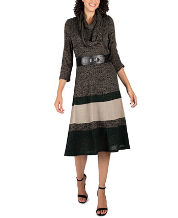 Платье-свитер с хомутом с цветными блоками Robbie Bee