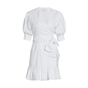 Платье Gina с запахом и отделкой проушинами Tanya Taylor