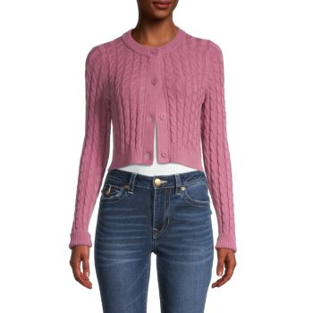 Укороченный вязаный вязаный свитер 525 America