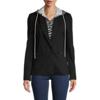 Куртка с капюшоном 2-в-1 с зебровым принтом Central Park West