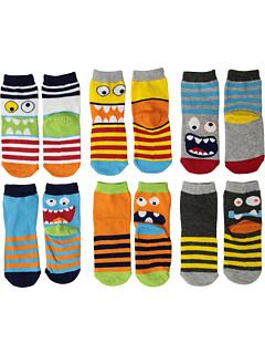 Monster Crew Socks 6-Pack (малыш / маленький ребенок / большой ребенок) Jefferies Socks