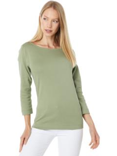 Трикотажная футболка в британском стиле с рукавами 3/4 из 100% хлопка Heritage Three Dots