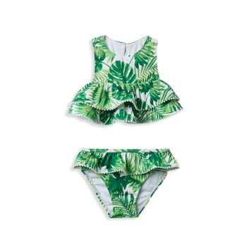 Little Girl's & Girl's 2-Piece Tropical-Print Two-Piece Swimsuit Janie and Jack