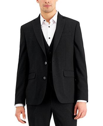 Черный однотонный мужской приталенный пиджак INC, созданный для Macy's INC International Concepts