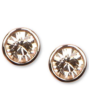 Серьги, серьги-гвоздики Swarovski Element из розового золота Givenchy