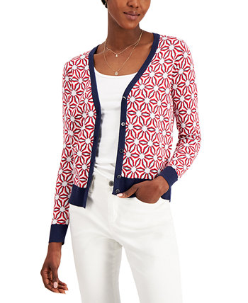Printed Cardigan, Created for Macy's Charter Club