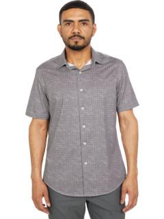 Рубашка с коротким рукавом Merritt Ooohcotton Tech с французской планкой BUGATCHI