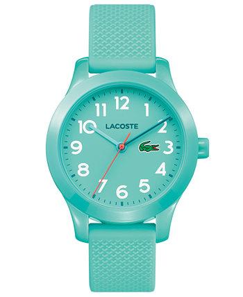 Детские 12.12 бирюзовые часы с силиконовым ремешком 32мм Lacoste
