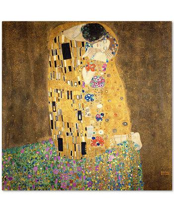 "Густав Климт 'Поцелуй 1907-8' Холст - 35 ""x 35"" Trademark Global"