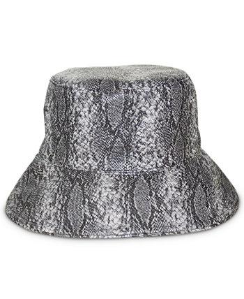 Двусторонняя шляпа-ведро от дождя с тиснением под змею Nine West