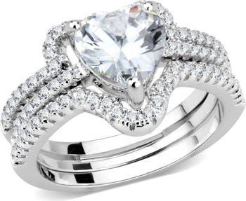 Обручальное кольцо CZ Pave Heart Covet