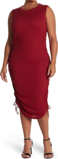 Трикотажное платье с завязками сбоку ONE ONE SIX