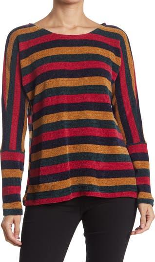Пуловер из синели в полоску Chenault