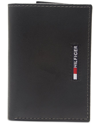 Мужской кожаный кошелек с тройным сгибом RFID Tommy Hilfiger